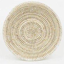 Afroart - Small White Sene Bread Basket -