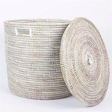 Afroart - Small White Sene Simon Basket -