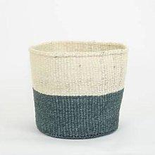 Afroart - White/Grey Sisal Basket Large Size -