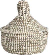 Afroart - White Sene Jewelry Basket Medium - about