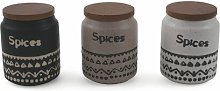 Afrochic Spice Jar (Set of 2) Villa d'Este Home