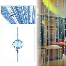 AFUT Blue Beauty String Tassel Crystal Beads