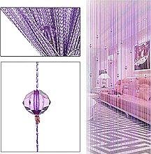 AFUT Purple Beauty String Tassel Crystal Beads