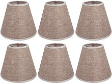 AFY Linen Clip On Candle Lampshade Chandelier Lamp