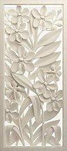 AG DESIGN FTN V 2952 3D Flower Basrelief Fleece