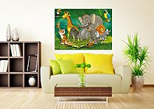 AG DESIGN Jungle Animals Photo Mural Wallpaper for