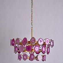 Agate Chandelier,G9 Warm Light Creative Stone
