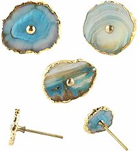 Agate Natural Knob Turquoise Cabinet Drawer Pull