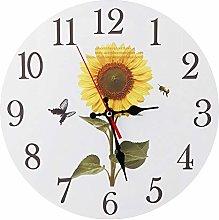 Agatige Sunflower Wall Clocks, Large Clocks Wall