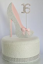 Age 16 Birthday Cake Decoration. 16th Silver Shoe