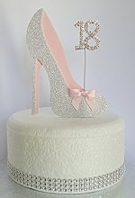 Age 18 Birthday Cake Decoration. 18th Silver Shoe