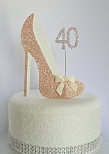Age 40 Birthday Cake Decoration. 40th Rose Gold