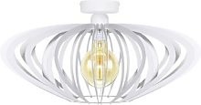 Age ceiling light in white, cage lampshade