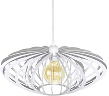 Age hanging light in white, cage lampshade