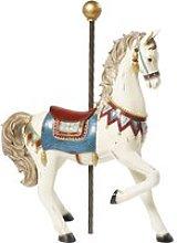 Aged Effect Ecru Horse Ornament H53