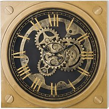 Agee Square Gold Wall Clock Williston Forge