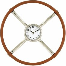 Aghacully Antique Steering Wheel 40cm Wall Clock