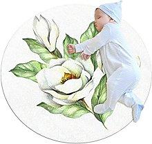 Aglaia odorata, Kids Round Rug Polyester Throw