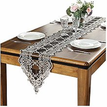 AGLZWY Lace Table Runner, 30CM Width Embroidery