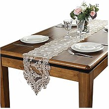 AGLZWY Table Runner, Embroidered Lace Tablecloth