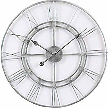 AGOKA Large wall clock with Roman numerals, silent