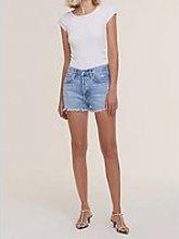 Agolde Parker Vintage Cut Off Shorts - Lightwash