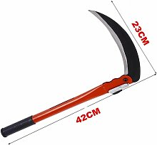 Agricultural sickle, folding lawn mower, domestic