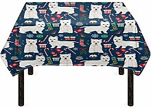 Agroupdream Christmas Westie Table Covers Home