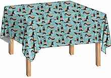 Agroupdream Ferret Tablecloth Oilproof Wipeable