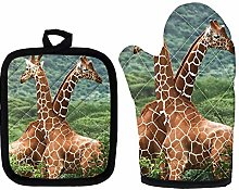 Agroupdream Soft Oven Mitts and Pot Holders Sets