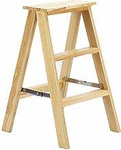 AGWa 3 Step Wooden Ladder Step Stool Folding Stool