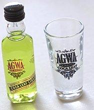 AGWA COCA Leaf Branded Single Shot Shot Glass(agwa