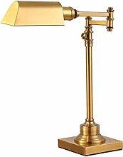 AGWa Crystal Salt Lamp Antique Copper Table Lamp