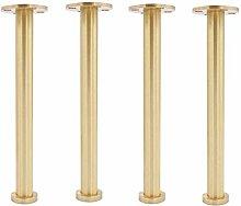 AGWa Furniture Legs Adjustable Metal Pure Copper