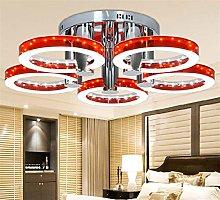 AGWa Led 5 Ring Chrome Ceiling Lamp,Modern Led