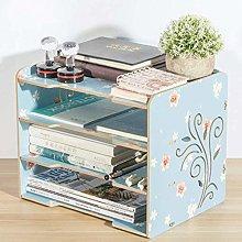 EliteKoopers Cream Fabric Wooden Folding Magazine Storage Rack Holder For Newspaper Office