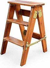 AGWa Portable Step Stool Solid Wood Folding/Home