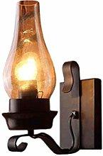 AGWa Wall Lamp E27 Wall Lamp Glass Shade Retro