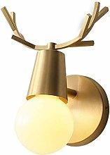AGWa Wall Lamp Nordic Wall Lamp Retro Full Copper