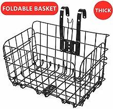 Ahagogo Front Bike Basket Bicycle Basket, Foldable