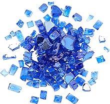 AHANDMAKER Fire Glass Blue Reflective Tempered