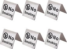 AHANDMAKER Stainless Steel No Smoking Table Sign
