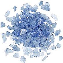 AHANDMAKER Transparent Glass Beads Royal Blue Fire