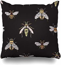 Ahawoso Throw Pillow Cover Honey Rhinestones