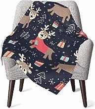 Ahdyr Double Layer Baby Blanket,Christmas Cute
