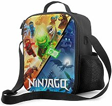 Ahdyr Ninjago Lunch Bag Cooler Bag Lunch Box Soft