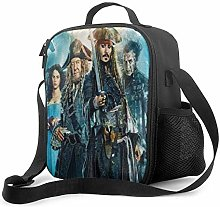 Ahdyr Pirates Caribbean Insulated Lunch Bag for