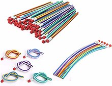 AHG 30 Pcs Soft Flexible Bendy Pencils Magic Bend