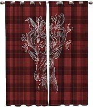 AHJJK Blackout Curtain White bird - 2 Panel 29.5 x