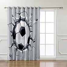 AHJJK Blackout Curtains White football Polyester